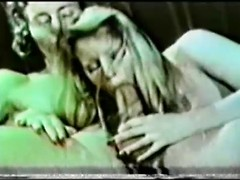 Blonde vintage porn star makes deepthroat blowjob