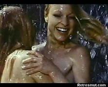 Mind blowing 1970 lesbian porn with naked girls in waterfall