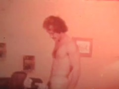 True vintage video with a girl in skimpy black lingerie fucking a big cock guy