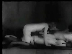 Vintage porn video with a babe mounted missionary style and fucked lustily