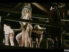 Retro fetish porn with pretty girls chained to be used as sex slaves
