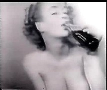 Sexy pin-up porn star Marilyn Monroe naked posing on vintage rare home video