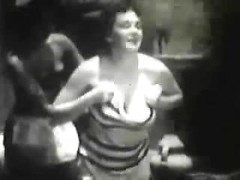 Vintage softcore porn with beautiful swimsuit models exposing their tits outdoors