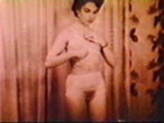 Erotic vintage sex scene with a sultry hairy pussy girl sucking dick lustily