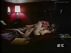 Erotic vintage fuck in bed with a perky tits girl and her big dick lover man