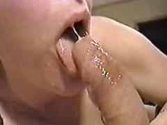 Horny blonde mom deepthroating big cock in amazing retro porn