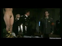 Mad classic porn with German military dudes inspecting tight hairy pussy
