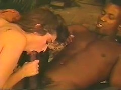 Top rated retro wife swapping porn with horny beauty jerking and tit fucking BBC